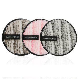 3Pcs Microfiber Cloth Pads Makeup Remover